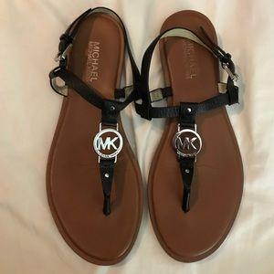 Michael Kors black leather sandal 8.5